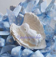 Bimbo su ali bomboniera in gesso ceramico #mold #soap #gessetto