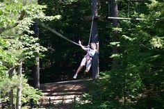 Zipping in the trees!