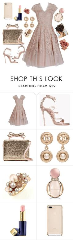 """Best friend's wedding"" by vettec ❤ liked on Polyvore featuring Pierre Balmain, Dsquared2, RED Valentino, Chanel, Mimí, Bulgari and Estée Lauder"