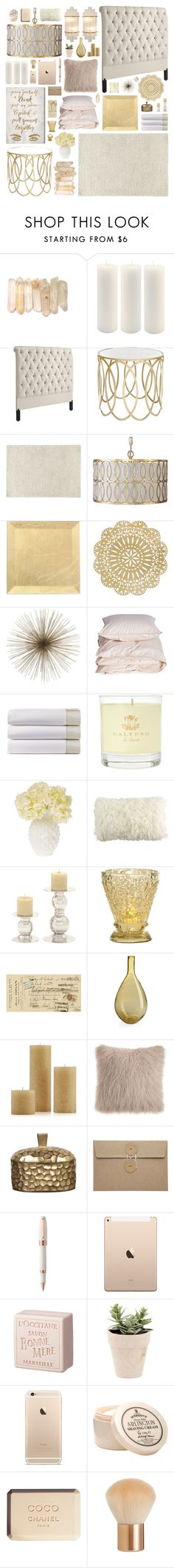 """Romantic Bedroom Decor"" by belenloperfido ❤ liked on Polyvore featuring interior, interiors, interior design, home, home decor, interior decorating, Root Candles, Worlds Away, Gabby and Mitchell Gold + Bob Williams"