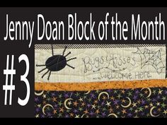 Jenny Doan Block of the Month (BOTM) #3 - Missouri Star Quilt Company - YouTube