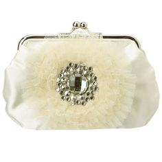 Women's Evening Handbags - Betsey Johnson Something Blue Lace Crossbody ClutchCream -- Click on the image for additional details.