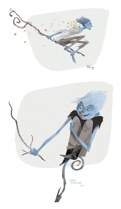 Shane Prigmore's studies of an earlier and  very different version of Jack Frost.