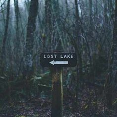 """""""I can't find the lake!"""" """"The sign says 'lost lake' for a reason, dummy. Maybe it's invisible."""" """"Or maybe it plain doesn't exist. Let's go home."""""""