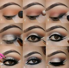SILVER EYESHADOW + DOUBLE WING PICTORIAL #tutorial