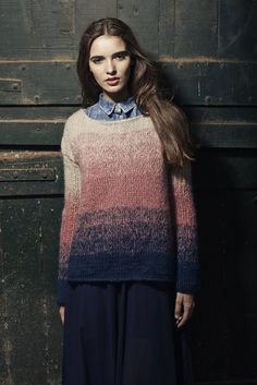 Sweater Ludmila - Handmade degrade #ombre #shades #knitwear Argentinian wool