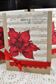 Dawn McVey poinsettia card-try with Big Bloom Poinsettias