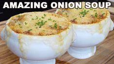 Chowder Recipes, Soup Recipes, Dinner Recipes, Onion Recipes, Crockpot Recipes, Classic French Onion Soup, Food Inc, Stone Soup, Rhubarb Recipes