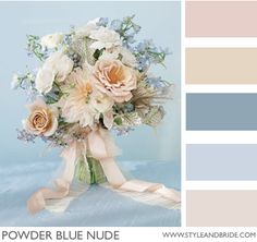 Powder Blue Nude! Pretty for winter wedding. #wedding #bridal #colors