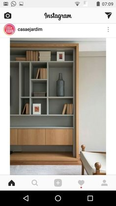 Modern Luxury Bedroom, Luxurious Bedrooms, Home Interior Design, Interior Architecture, Contemporary Bookcase, Dining Room Storage, Room Partition Designs, Shelves In Bedroom, Home Libraries