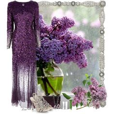 I Remember Lilacs... by lmm2nd on Polyvore featuring moda, Coast, Sergio Rossi, Roberto Cavalli, Tory Burch, Effy Jewelry and Olivia Riegel