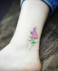 lilac ankle tattoo