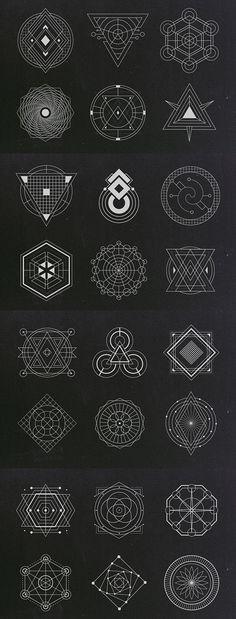 Fantastic in 2019 Cool Symbols, Alchemy Symbols, Magic Symbols, Geometric Drawing, Geometric Art, Geometric Designs, Sacred Geometry Symbols, Geometric Symbols, Viking Tattoo Symbol