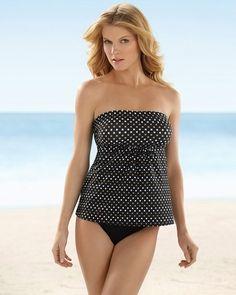 5d56a703f8 Soma Intimates Miraclesuit Spot On Legrand Bandeau Swim Tankini Top  #somaintimates Herve Leger Dress,