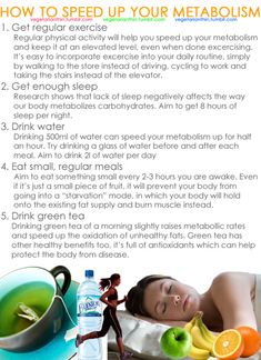 How to speed up your metabolism.