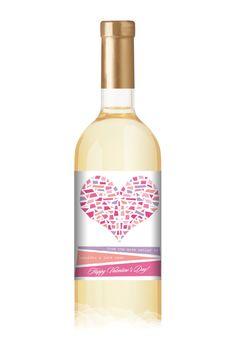 Artsy Heart Wine Bottle Label