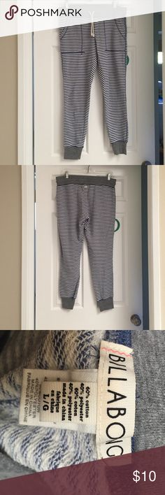 Billabong sweats Blue and cream stripped sweats Billabong Pants Track Pants & Joggers