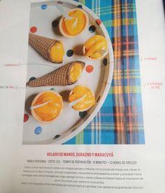 Helado de mango durazno y maracuya