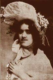 Madame Mustache. Eleanor  Dumont.  Committed suicide Sept. 8, 1879. She was a card shark, blackjack was her game . Her lover swindled her out of every thing she had. So she hunted him down , and shot him dead. She was friends with Calamity Jane.