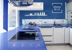 El azul en tu cocina es una fórmula perfecta para la felicidad.