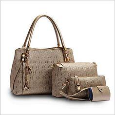 0438de456d Luxury Handbags Women Bags Designer Female Bag Hobo Tote Set Top-handle  shoulder bags Handbag+Messenger Bag+Purse sac a main