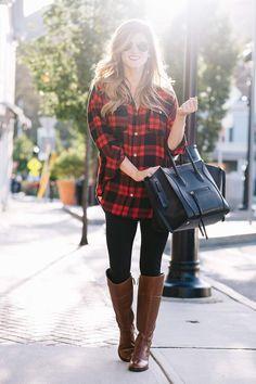Plaid Tunic + Riding Boots on Sale + Pre Black Friday Sales http://bellanblue.com