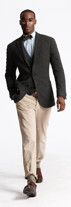 Ralph Lauren 2013 Fall/Winter #Mens #Fashion #Lookbook revealed at #NYC #FashionWeek via @gqmagazine | Loving the #tweed pieces