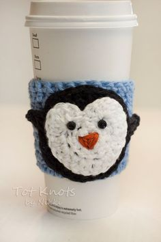 Hey, I found this really awesome Etsy listing at https://www.etsy.com/listing/182467628/penguin-coffee-sleeve-coffee-and-tea