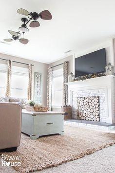 Scroll tile rug 10x14 39 gray ivory tiled fireplace for 10x14 living room design