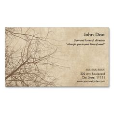 Funeral Director Business Card Directors
