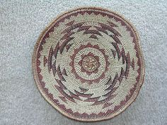 Large Mint Condition HUPA Karok Yurok Basketry Plaque | eBay