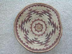 Large Mint Condition HUPA Karok Yurok Basketry Plaque | eBay