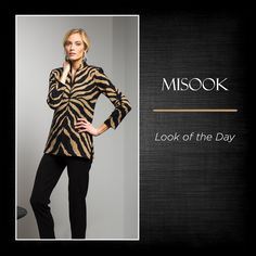 Walk on the wild side with this stylish and sophisticated Misook look!