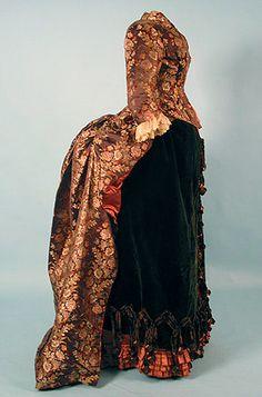 brocade Reception Gown, 1880s.