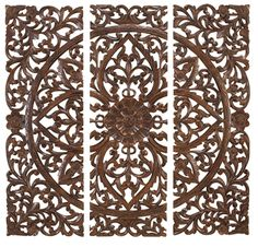 Large Wooden Wall Art carved wall panel - design 2 gr | home decor / in and outdoors