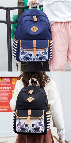 BAG Backpack Fashion Brand with The Same Rhombic red Geometric Backpack 14-inch Laptop Student Travel Backpack Unisex-White