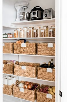 Pantry Reveal: How I Cut My Storage in Half – The Identité Collective – home office organization files Kitchen Organization Pantry, Home Organisation, Organizing Solutions, Organized Pantry, Closet Storage Solutions, Organizing Ideas, Storage Room Ideas, Organization Ideas For The Home, Small Pantry Organization