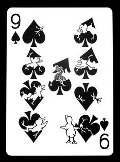 "ncyclopedia: ""Year Week The Nine of Spades Paper x Copyright© 2012 Emmanuel Jose. All Rights Reserved. Cool Playing Cards, Custom Playing Cards, Deck Of Cards, Your Cards, Art Beat, Joker Card, Ap Studio Art, Unique Cards, Designs To Draw"