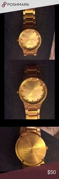 Gold Nixon watch Gold Nixon watch. Good condition. Nixon Accessories Watches