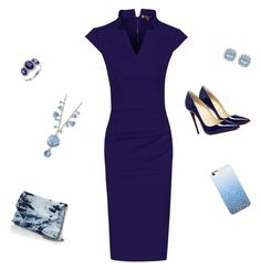 """""""Navy shadow"""" by valorierose on Polyvore featuring Jolie Moi, 1928, Barneys New York and Effy Jewelry"""