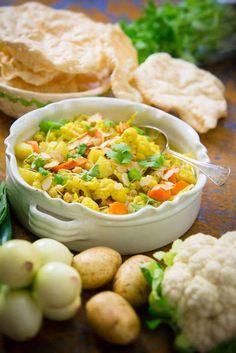 Indisk kikärtsgryta med potatis & blomkål - Mitt kök