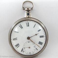 SILVER PAIR CASE VERGE Pocket Watch