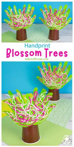 This Handprint Cherry Blossom Tree Craft is so pretty. It's a lovely spring tree craft to decorate the home or classroom. This handprint craft is really easy and fun for preschoolers. This spring craft is so cute and cheerful and will look lovely on a shelf or windowsill! #kidscraftroom #kidscrafts #springcrafts #handprintcrafts #preschoolcrafts #blossom #cherryblossom Craft Projects For Kids, Fun Crafts For Kids, Arts And Crafts Projects, Preschool Crafts, Spring Arts And Crafts, Creative Arts And Crafts, Fall Crafts, Cherry Blossom Tree, Blossom Trees