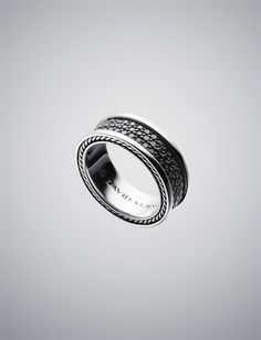 David Yurman 8.5mm Black Diamond Pave Ring