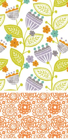 Dania,' Floral Collection surface pattern by Wendy Kendall Designs