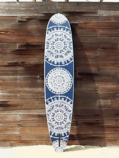Free People Custom Painted Surf Board