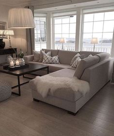 to decorate small living room room ottoman room bench room ottoman room inspiration living room set living room furniture living room My Living Room, Living Room Interior, Home And Living, Neutral Living Rooms, Interior Livingroom, Cozy Living, Beige Sofa Living Room, Living Room Flooring, Relaxing Living Rooms