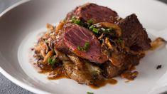 Onglet grillé, sauce au marsala et champignons   Recettes   Signé M