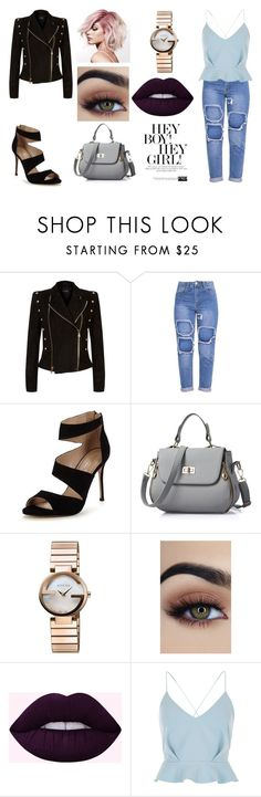 """""""Random Set"""" by teenwolfmoosic on Polyvore featuring Balmain, Carvela, Gucci and River Island"""