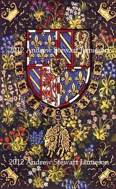 'Duke of Burgundy's Coat of Arms' designed and painted by Andrew Stewart Jamieson